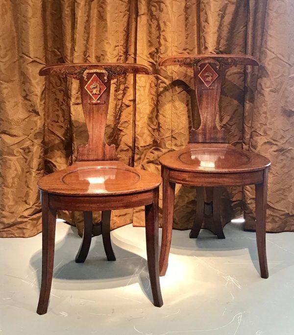 Paire de chaises Irlandaises
