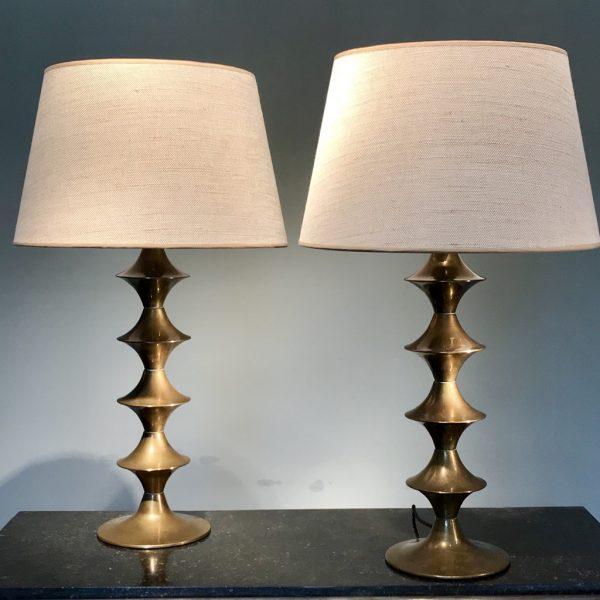 Paire de lampes en laiton – vendue –