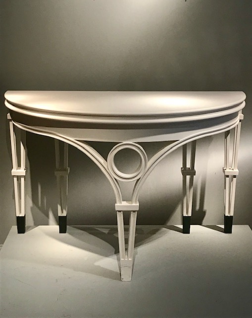 Table console 1/2 lune.
